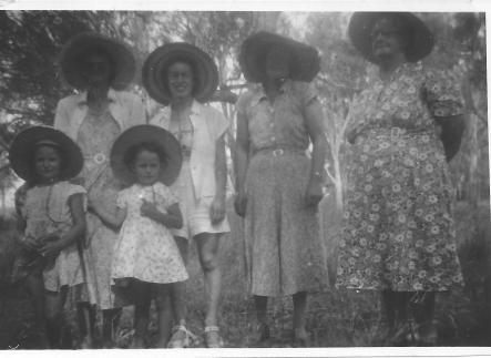 Adams Family Women incl Joan Adams - Macintyre River Goondiwindi