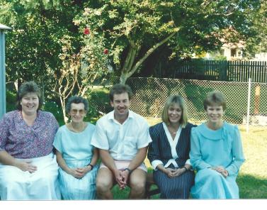 After Dad's funeral 1990 - sad occasion but family helps