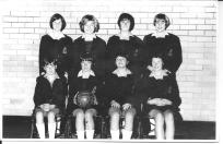 Bulli High School Netball Girls - Kerrie is 2nd from left from left in front row