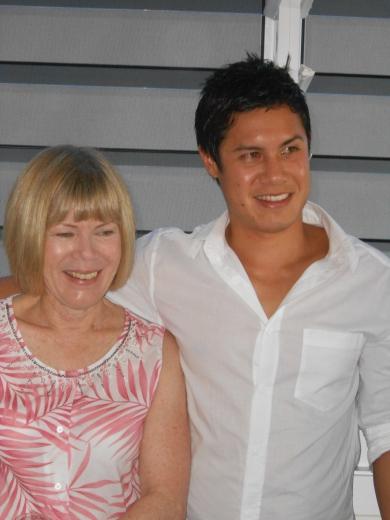 Julie Lock Lee (Adams) with son Gavin