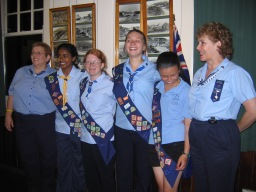 Thirroul Girl Guides receiving their Baden Paden Powell Awards 2008 - Katrina 3rd from left