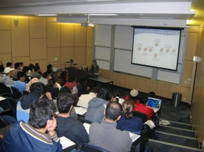 Kerrie lecturing to Masters of Engineering Students at University of Wollongong 2008