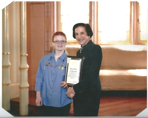 Katrina Receiving Her Queens Guide Award from NSW Governor-1
