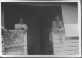 Muriel Pollock and Ross Adams at Nanna Adams Boggabilla 1953