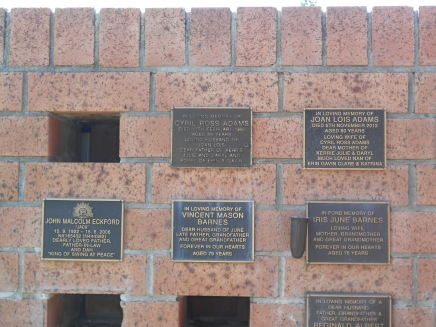 United again - St Augustines Memorial Wall
