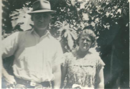 Pop Arthur James Adams and Mary Ethel May Adams