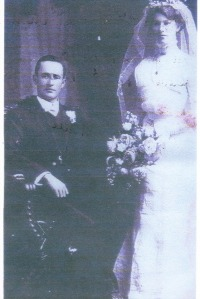 Matilda's brother Charles Waters and Agnes Sweetman - on their Wedding Day - beautiful !