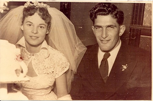 Wedding of Douglas Stephen Sims to Fay Avice (Haggett) - 1952 in Brisbane