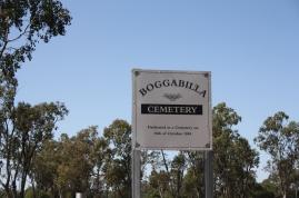 Boggabilla Cemetery sign