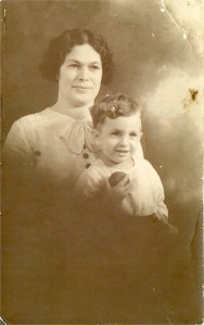 c. 1934 Martha Kitty Sims nee Swaysland with her son Douglas Sims